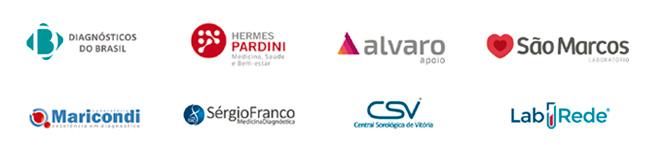 Integração com laboratórios de apoio Pardini, DB, Álvaro, São Marcos, CSV e outros